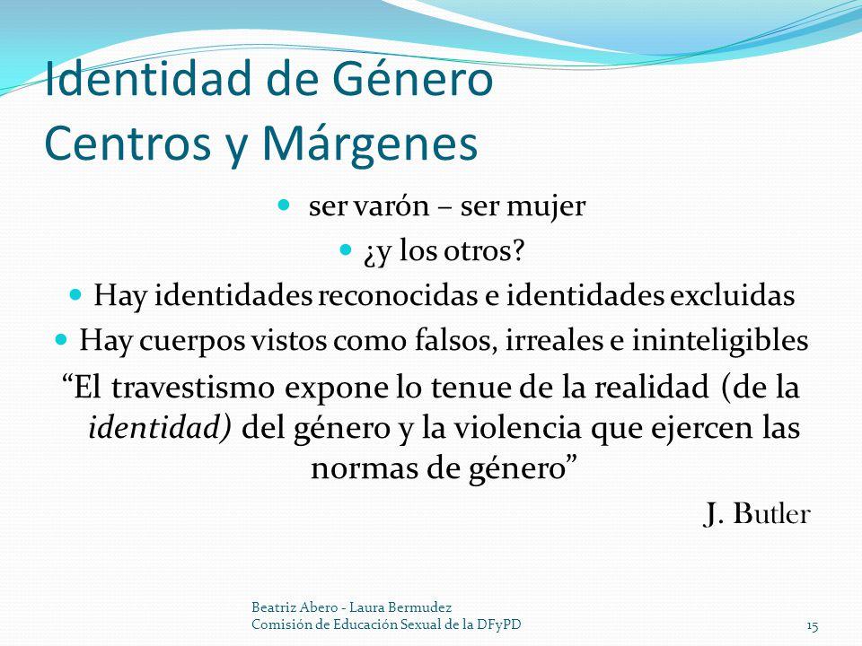 Identidad de Género Centros y Márgenes