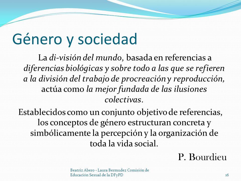 Género y sociedad P. Bourdieu