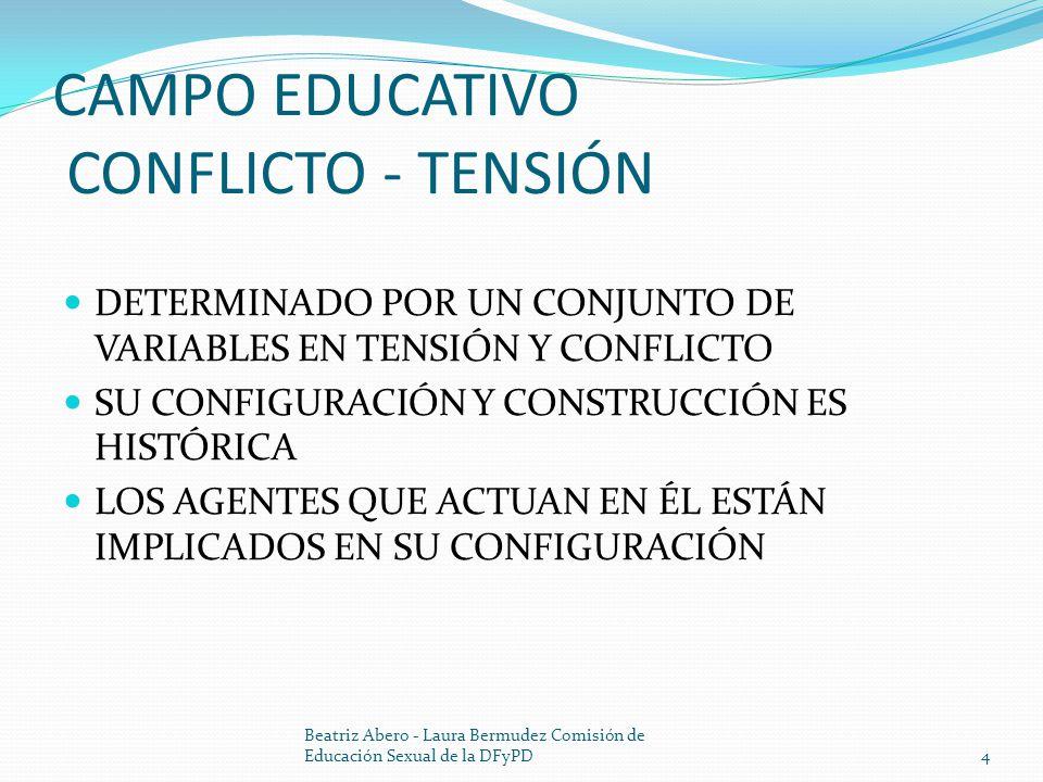 CAMPO EDUCATIVO CONFLICTO - TENSIÓN
