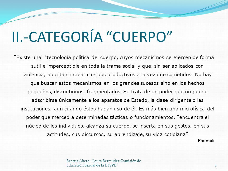 II.-CATEGORÍA CUERPO