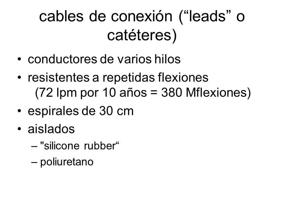 cables de conexión ( leads o catéteres)