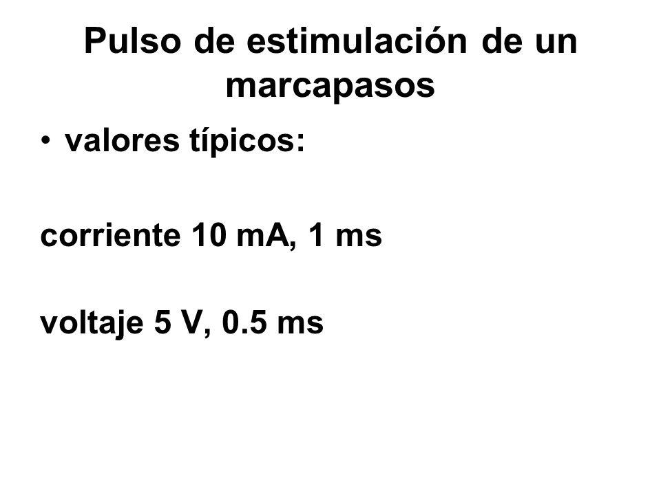 Pulso de estimulación de un marcapasos