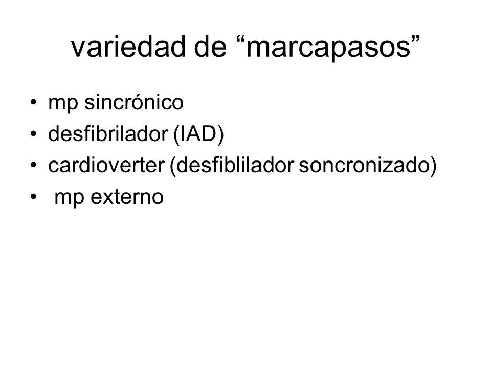 variedad de marcapasos