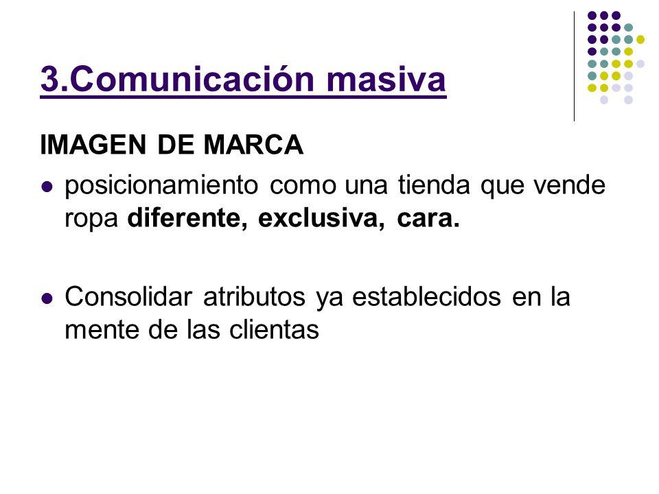 3.Comunicación masiva IMAGEN DE MARCA