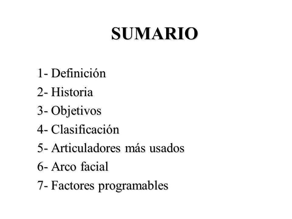 SUMARIO 1- Definición 2- Historia 3- Objetivos 4- Clasificación