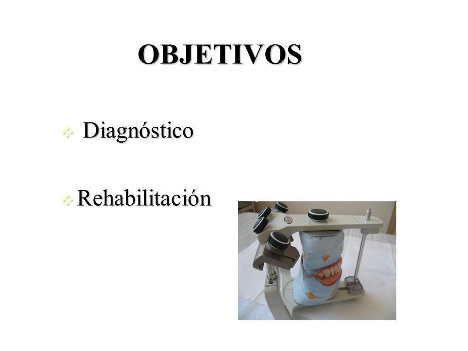OBJETIVOS Diagnóstico Rehabilitación