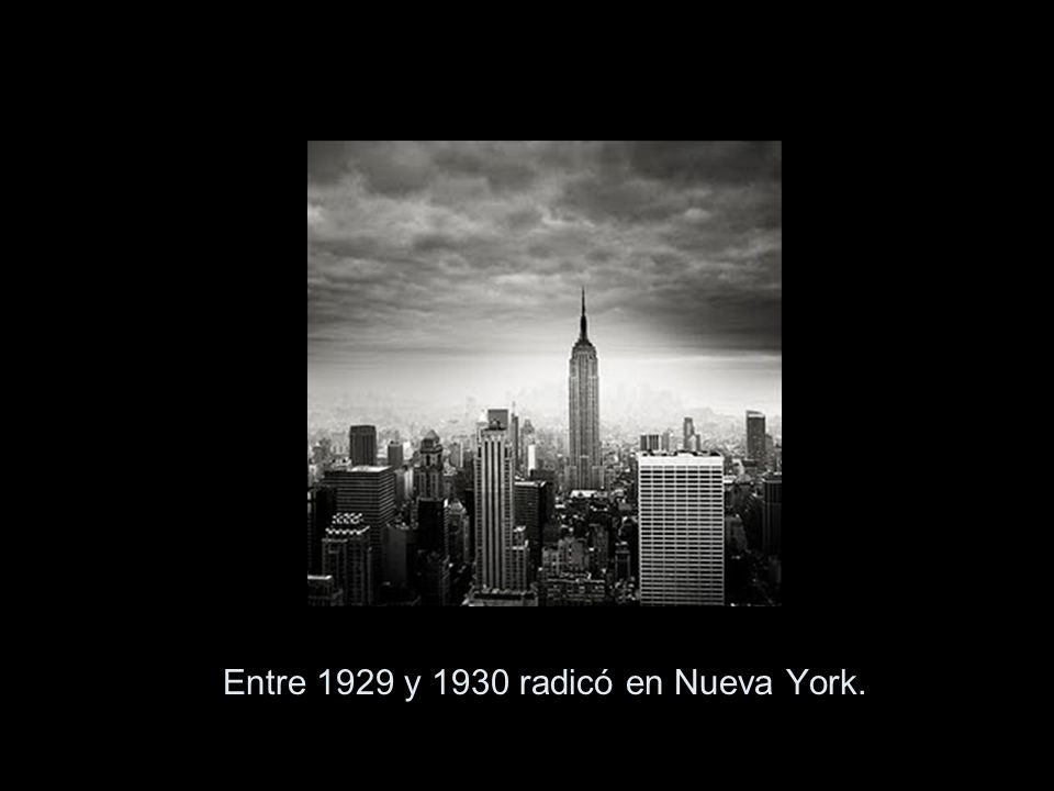 Entre 1929 y 1930 radicó en Nueva York.