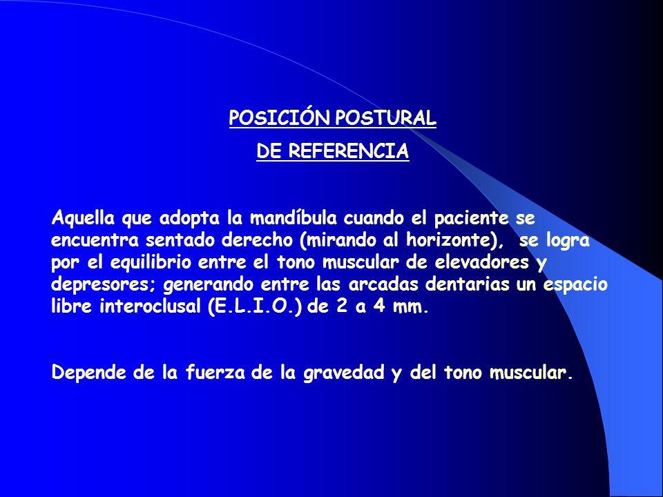 POSICIÓN POSTURAL DE REFERENCIA.