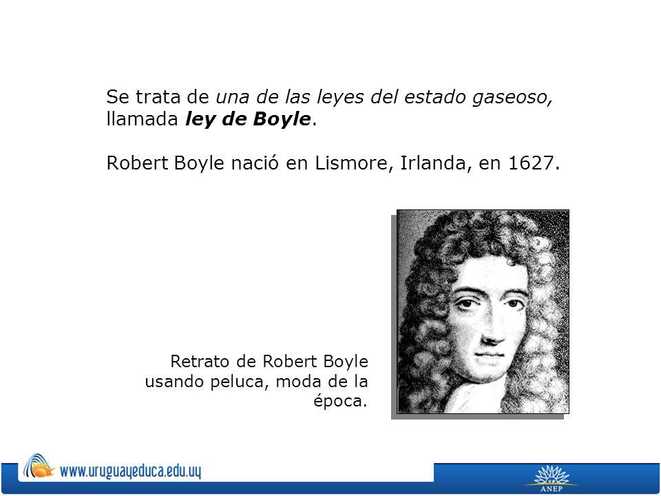 Se trata de una de las leyes del estado gaseoso, llamada ley de Boyle