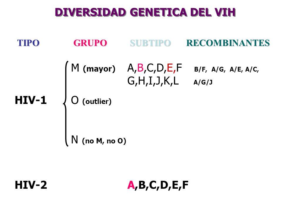 DIVERSIDAD GENETICA DEL VIH