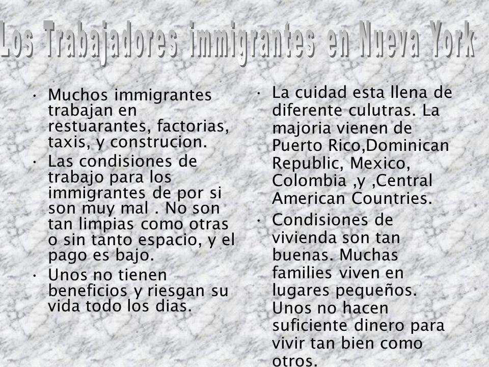 Los Trabajadores immigrantes en Nueva York