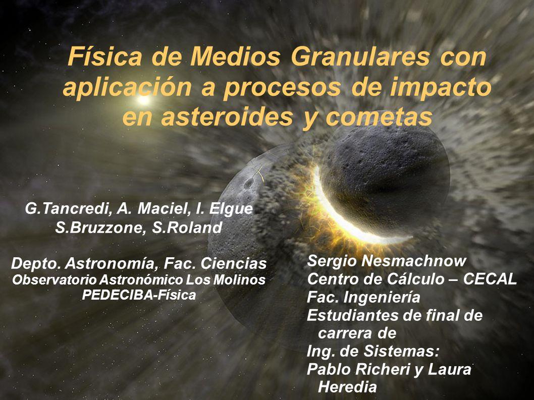 Depto. Astronomía, Fac. Ciencias Observatorio Astronómico Los Molinos