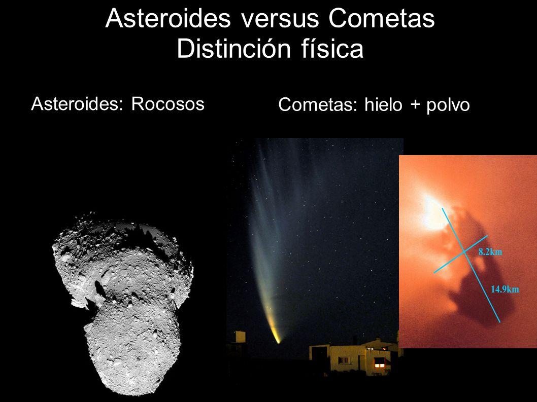 Asteroides versus Cometas Distinción física
