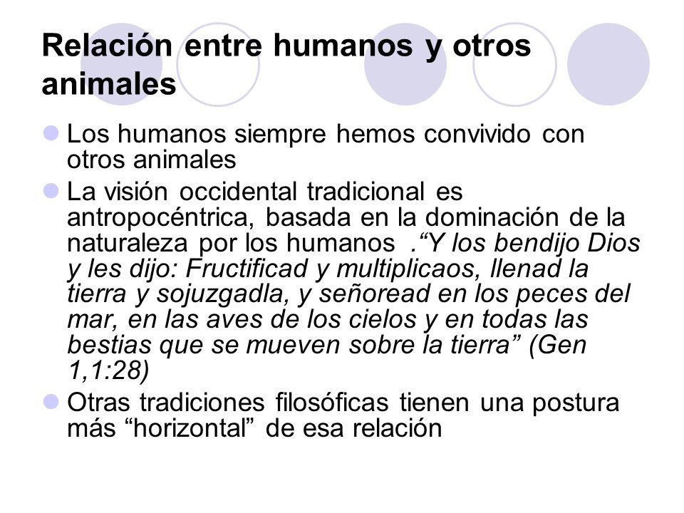 Relación entre humanos y otros animales