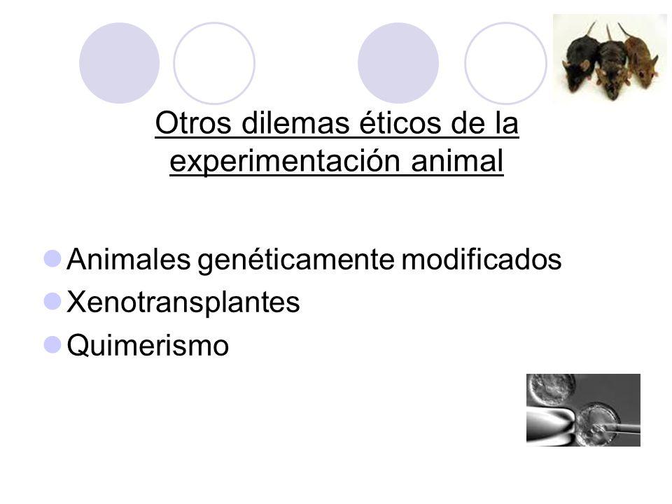 Otros dilemas éticos de la experimentación animal