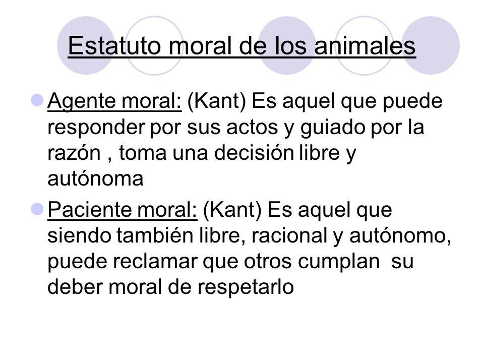 Estatuto moral de los animales