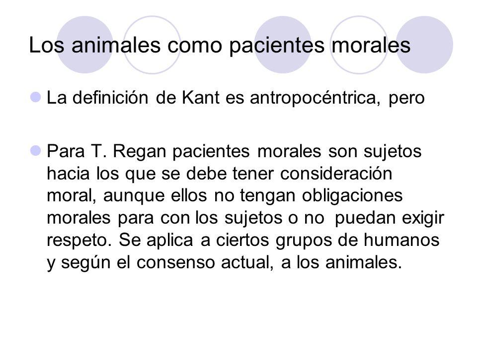 Los animales como pacientes morales