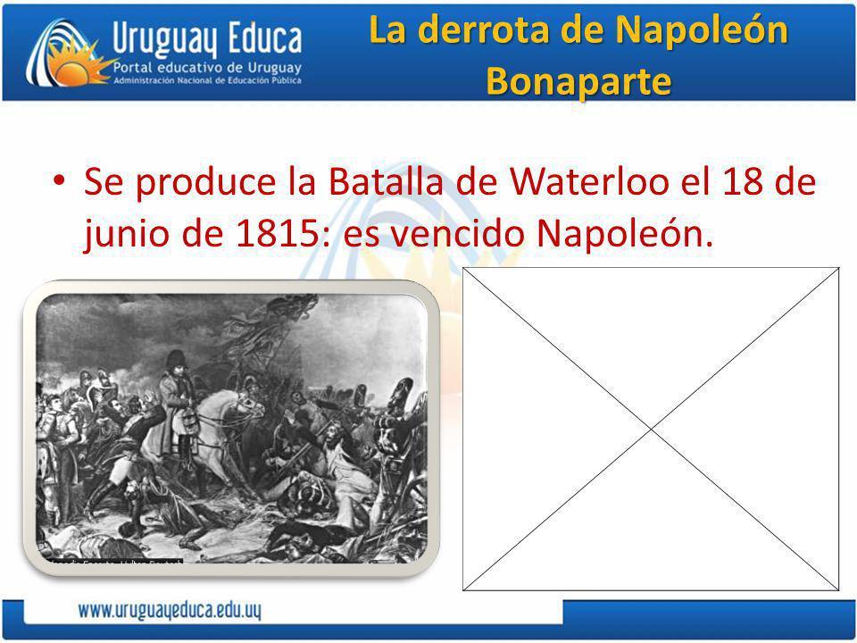 La derrota de Napoleón Bonaparte