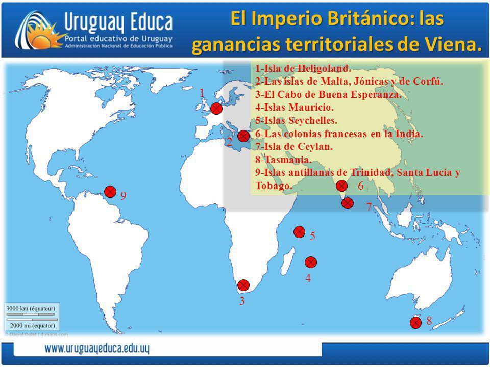El Imperio Británico: las ganancias territoriales de Viena.