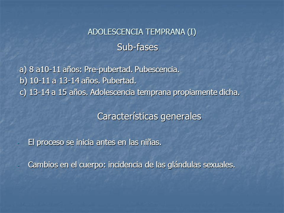 ADOLESCENCIA TEMPRANA (I)