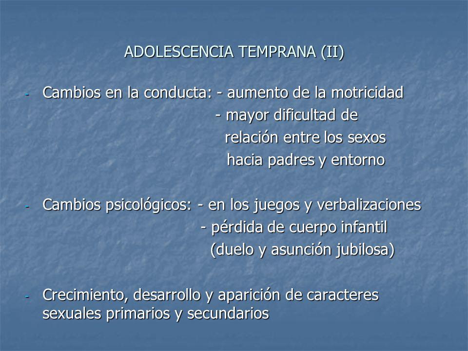 ADOLESCENCIA TEMPRANA (II)