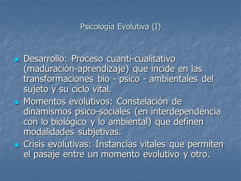 Psicología Evolutiva (I)
