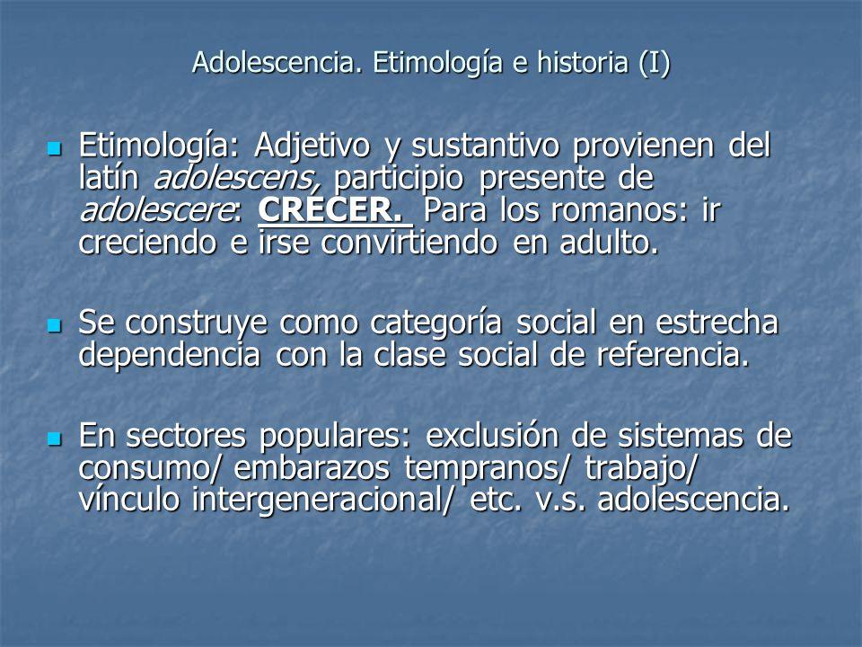 Adolescencia. Etimología e historia (I)