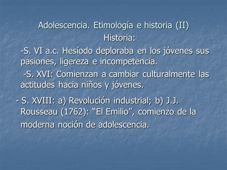 Adolescencia. Etimología e historia (II)