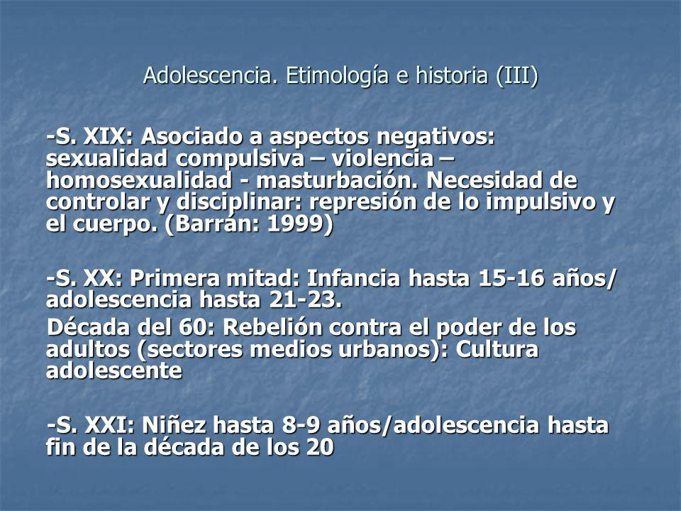 Adolescencia. Etimología e historia (III)