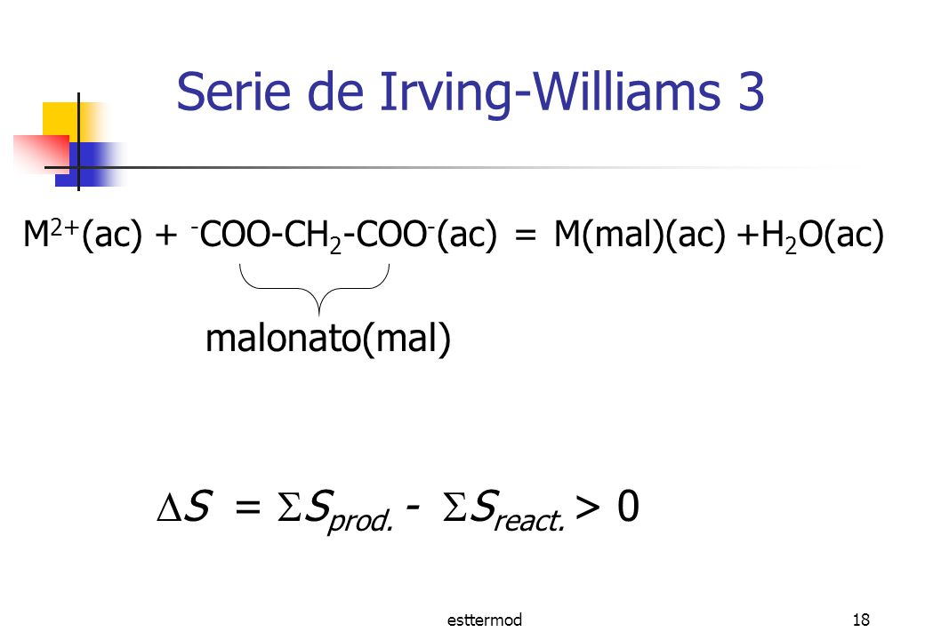 Serie de Irving-Williams 3