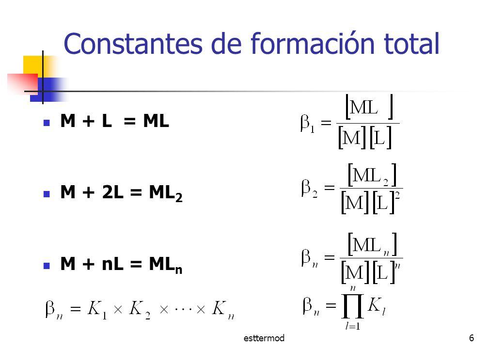 Constantes de formación total