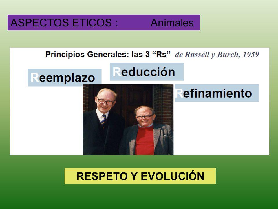ASPECTOS ETICOS : Animales