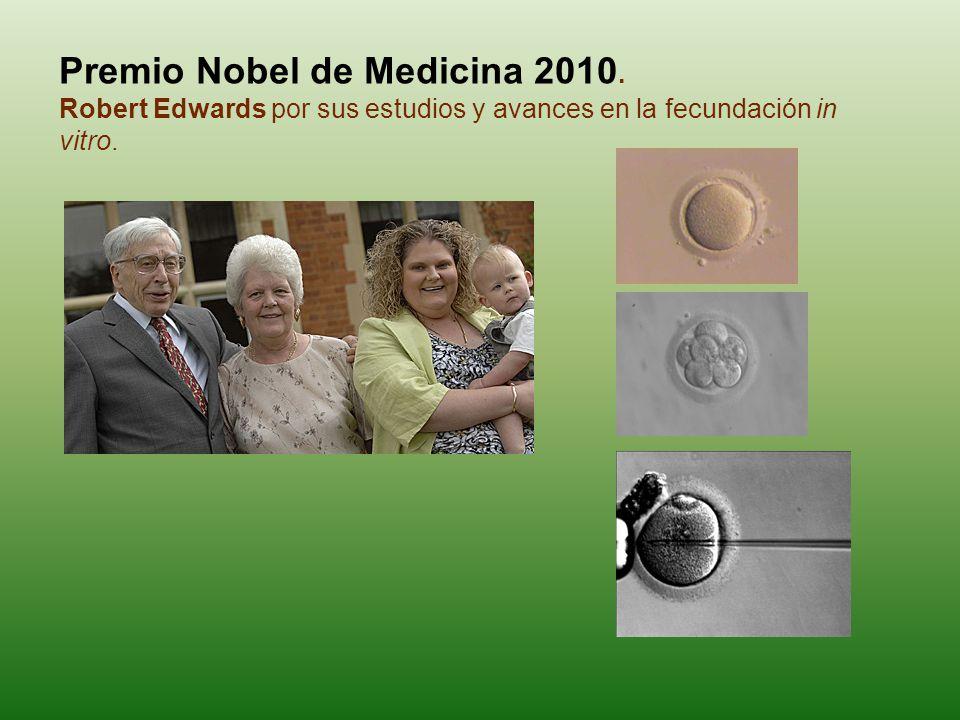 Premio Nobel de Medicina 2010.