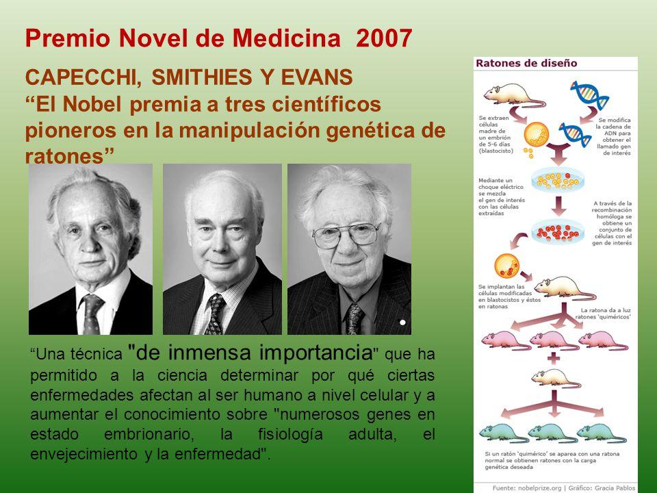 Premio Novel de Medicina 2007