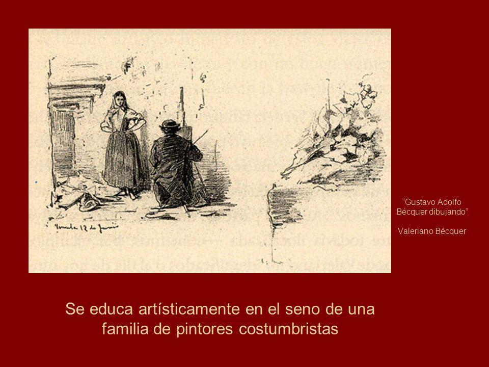 Gustavo Adolfo Bécquer dibujando Valeriano Bécquer