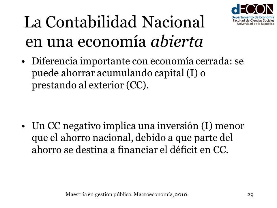 La Contabilidad Nacional en una economía abierta