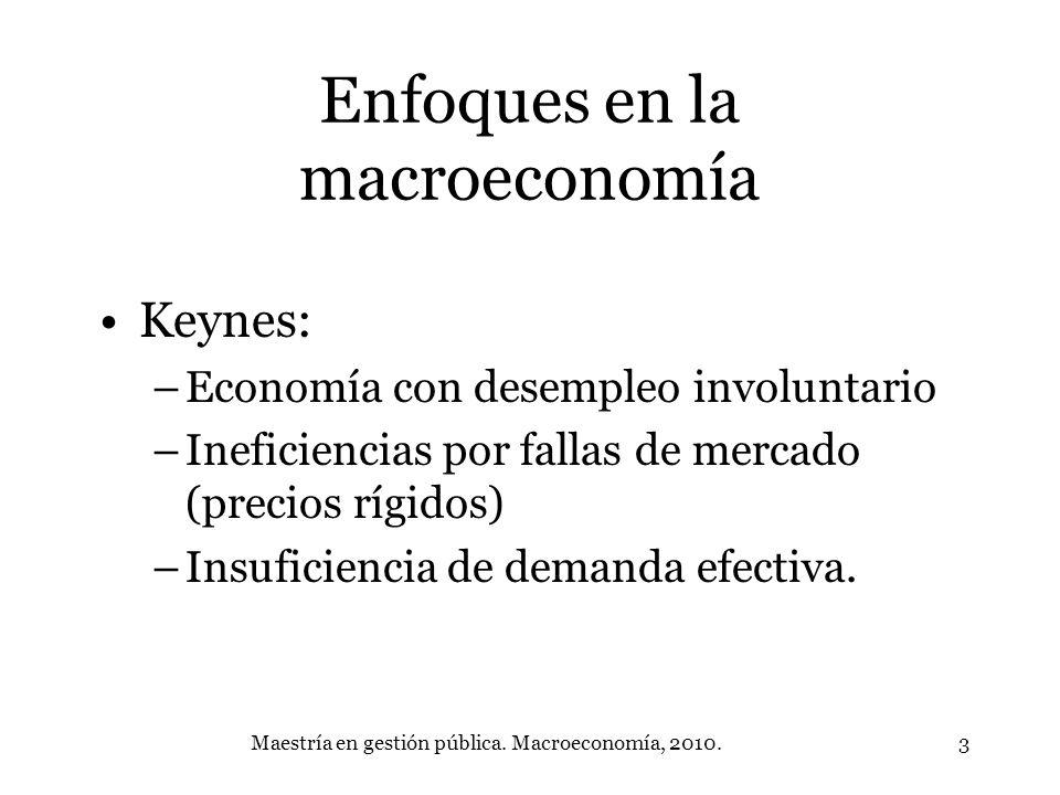 Enfoques en la macroeconomía