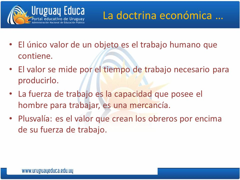 La doctrina económica …