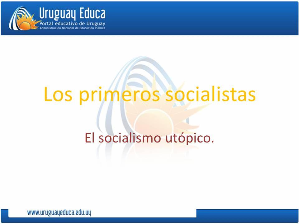 Los primeros socialistas