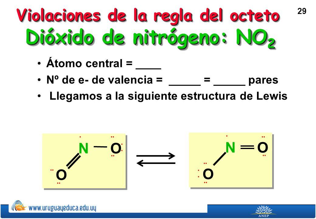 Dióxido de nitrógeno: NO2