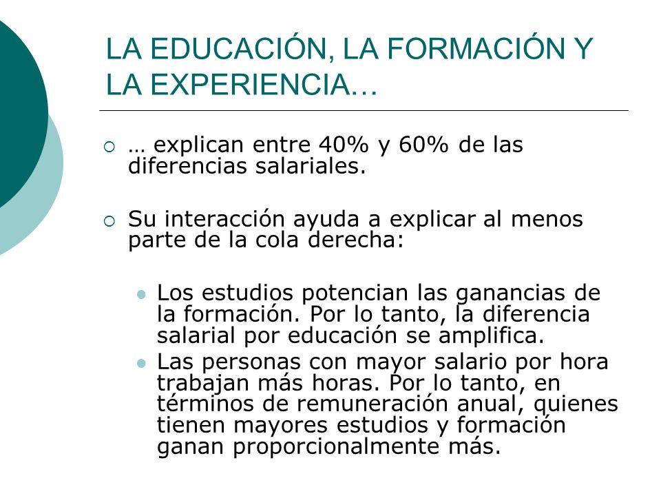 LA EDUCACIÓN, LA FORMACIÓN Y LA EXPERIENCIA…