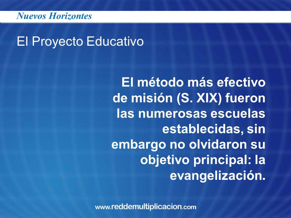23/03/2017 Nuevos Horizontes. El Proyecto Educativo.