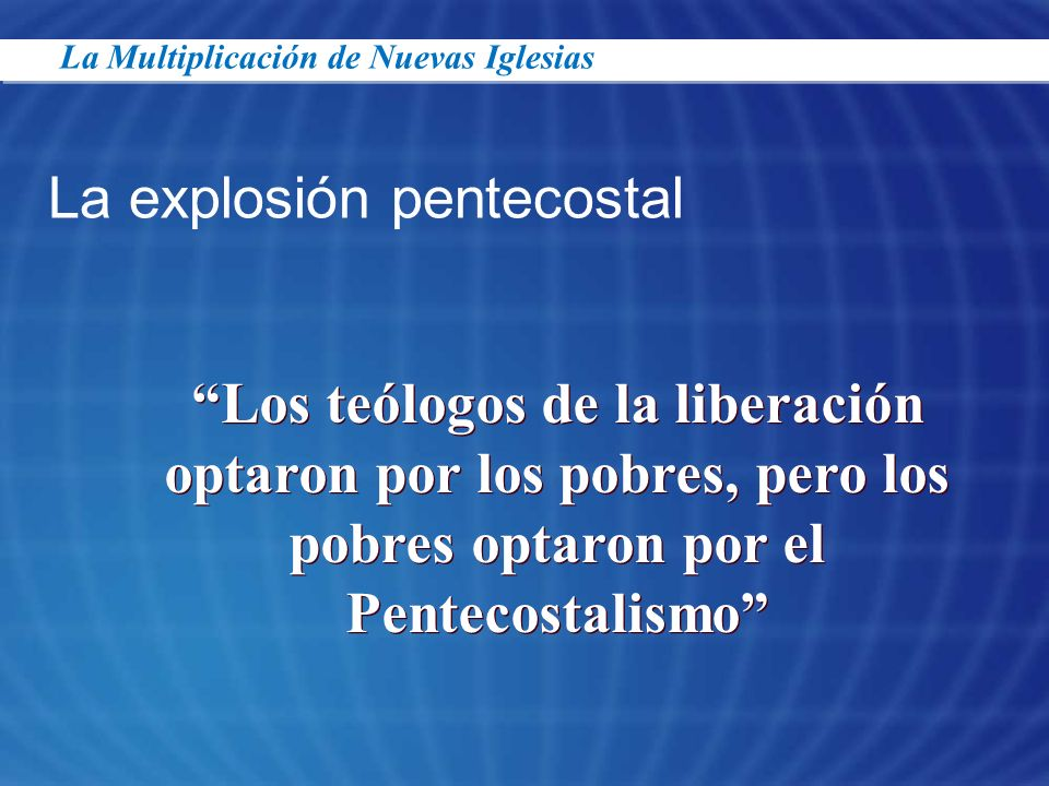 La explosión pentecostal