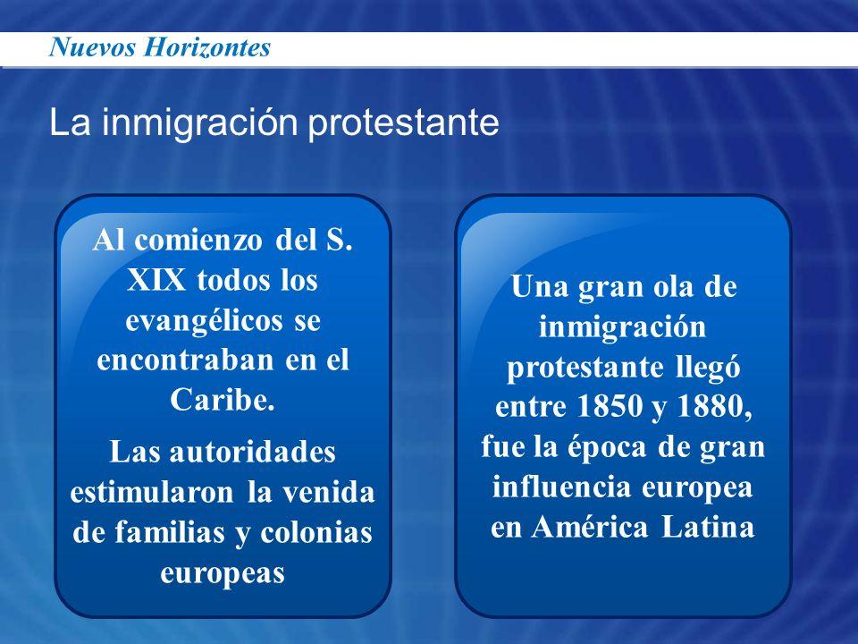Las autoridades estimularon la venida de familias y colonias europeas