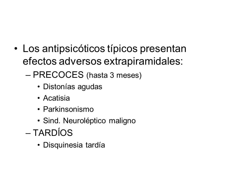 Los antipsicóticos típicos presentan efectos adversos extrapiramidales: