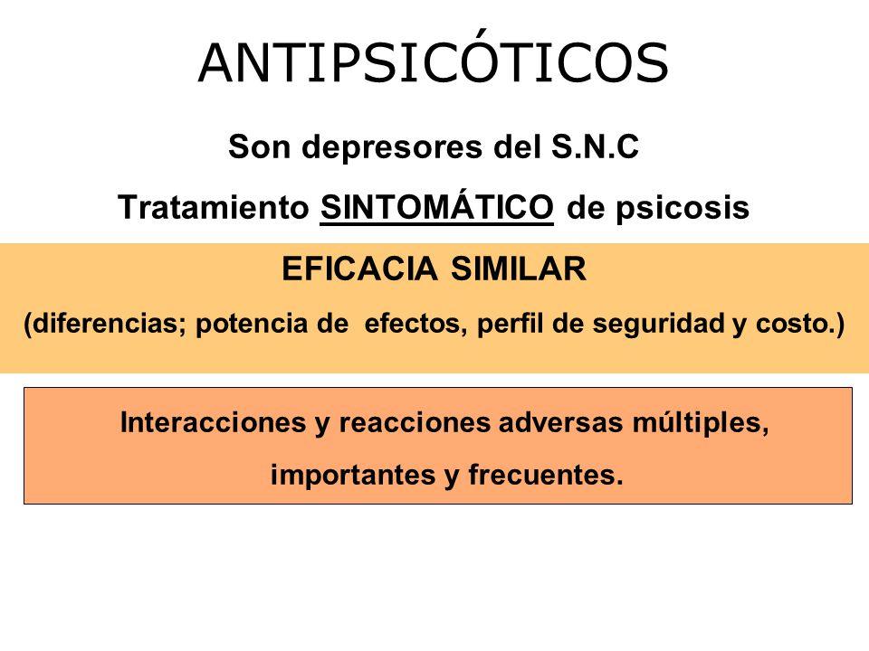 ANTIPSICÓTICOS Son depresores del S.N.C
