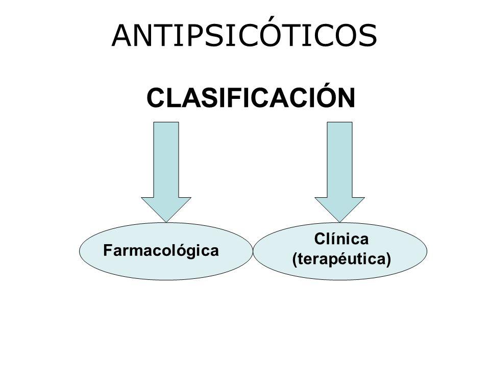 ANTIPSICÓTICOS CLASIFICACIÓN Clínica (terapéutica) Farmacológica