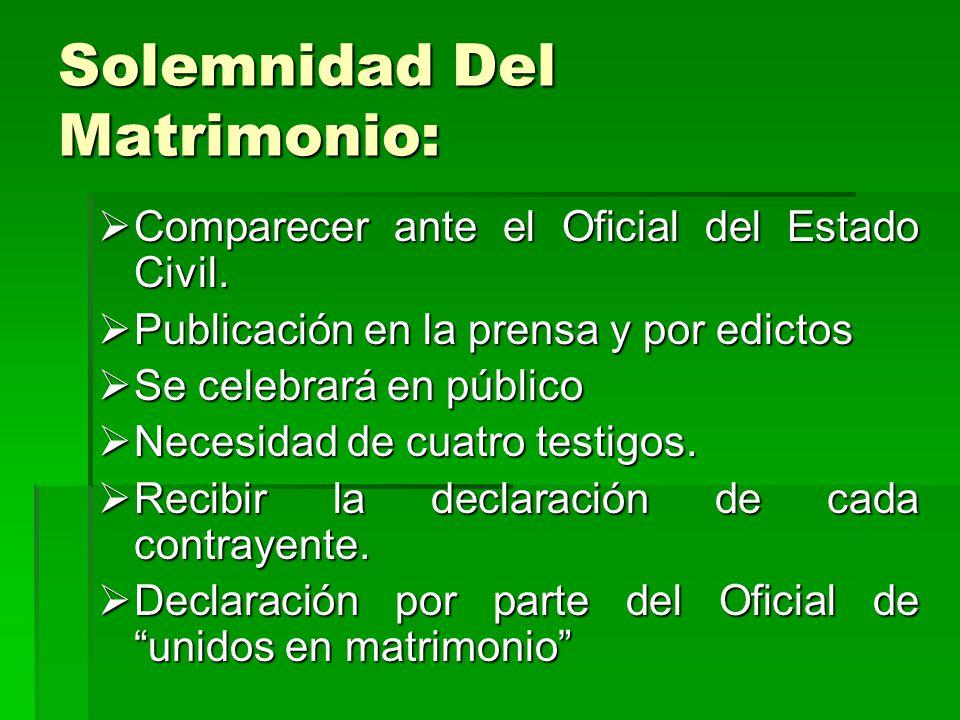 Solemnidad Del Matrimonio: