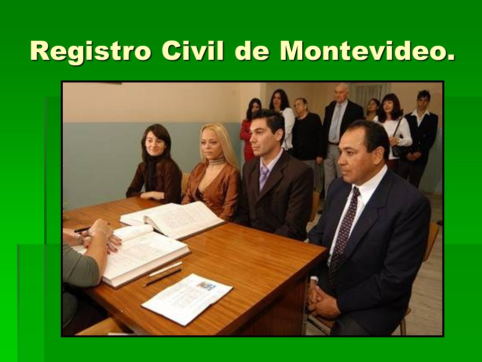 Registro Civil de Montevideo.