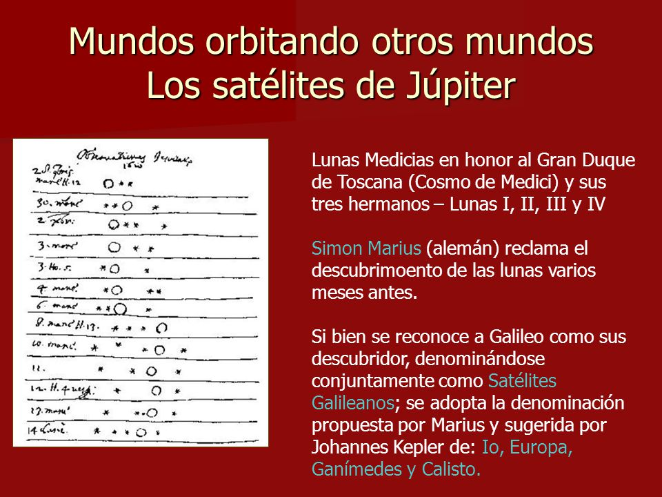 Mundos orbitando otros mundos Los satélites de Júpiter